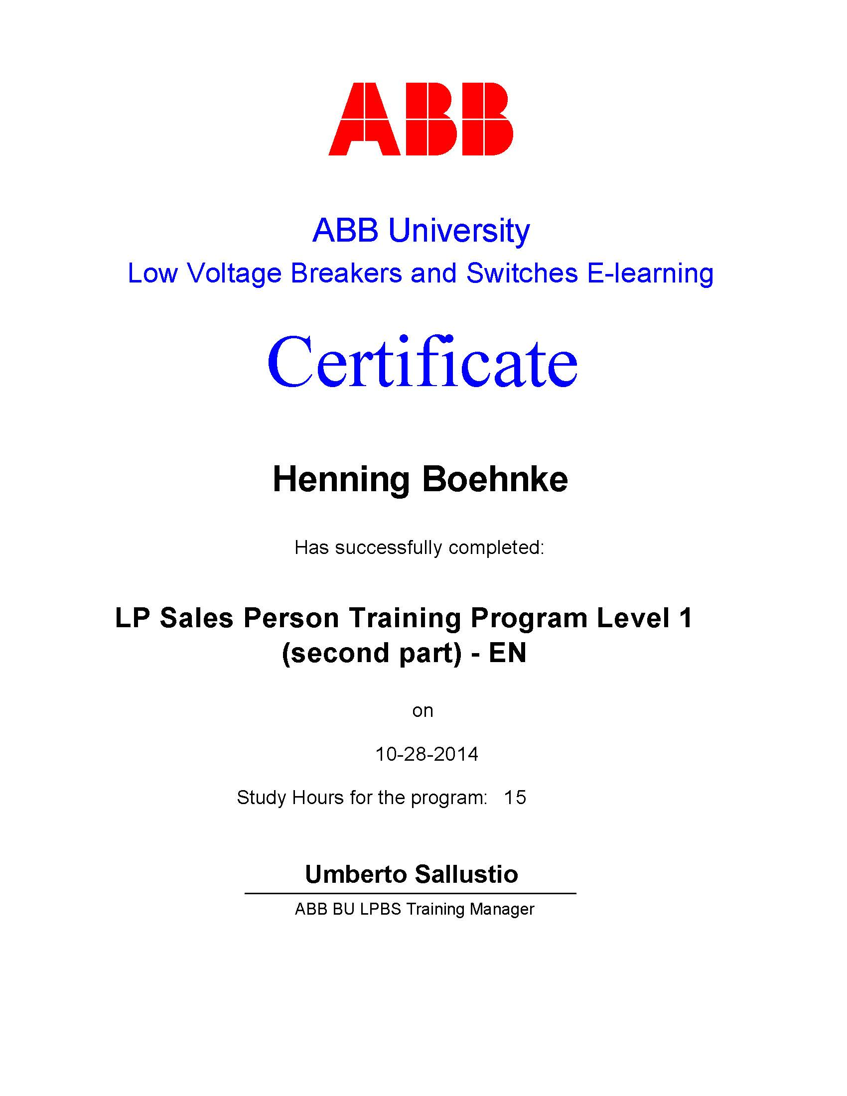 LP Sales Person Training Program Level 1 (Second Part)
