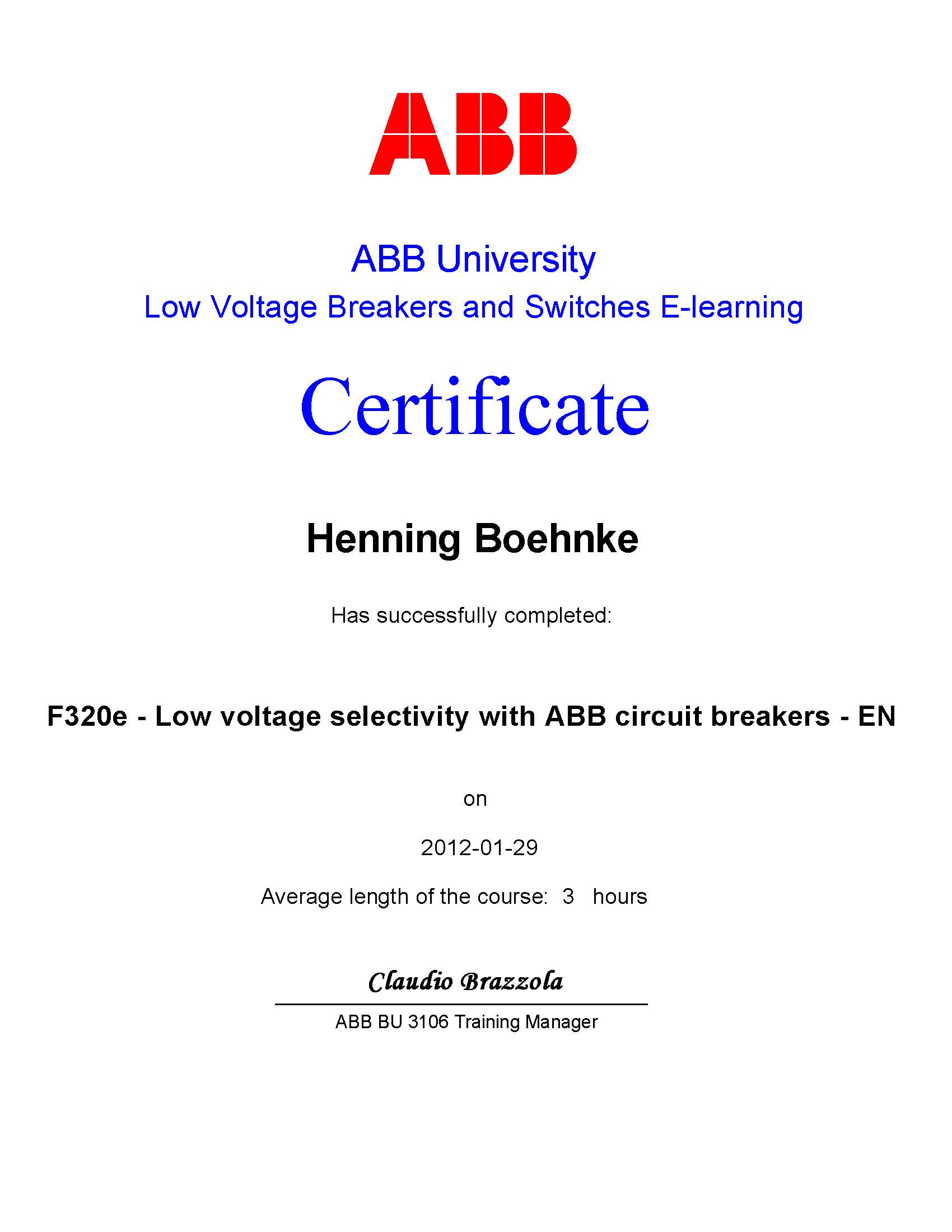 Low Voltage Selectivity with ABB Circuit Breakers