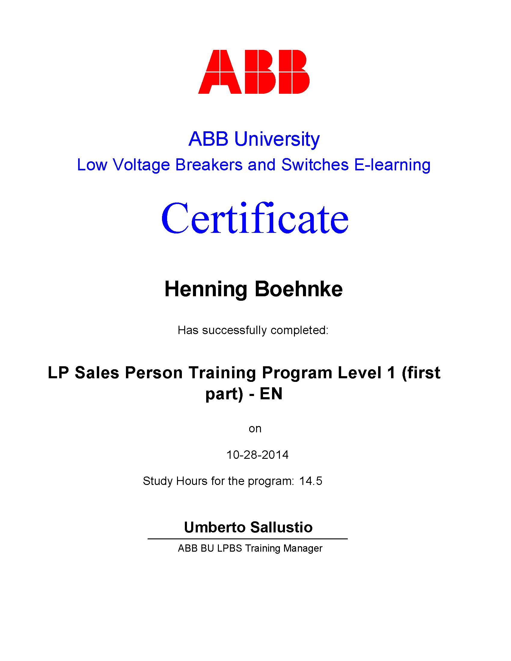 LP Sales Person Training Program Level 1 (First Part)